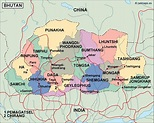 bhutan political map. Eps Illustrator Map | Vector World Maps