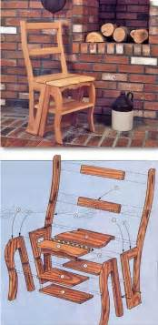 chair step stool plans furniture plans  projects