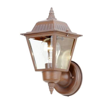 hton bay 1 light rustic bronze outdoor wall l