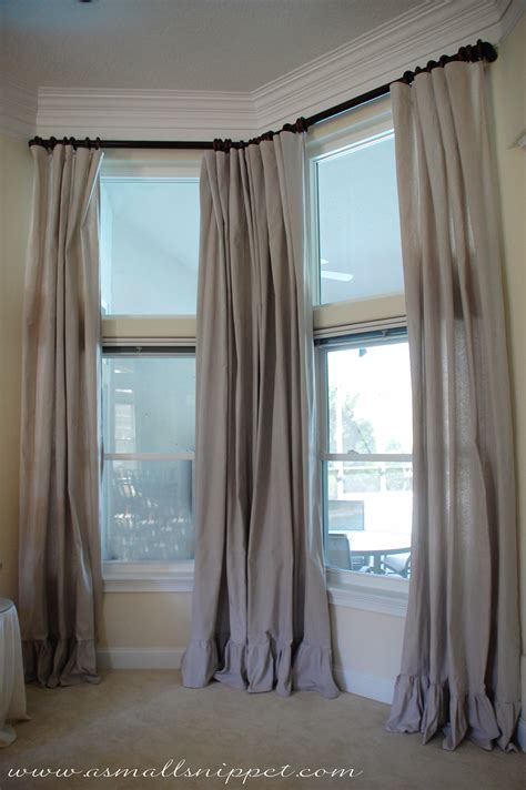 drop cloth curtains ruffled drop cloth curtains a small snippet