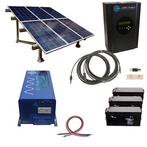 aims 720w grid solar system with 3kw inverter charger