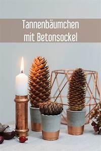 Deko Herbst 2017 : diy beton tannenb umchen weihnachten herbst deko ~ Lizthompson.info Haus und Dekorationen