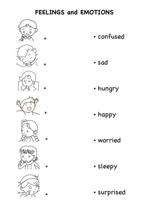 Feelings Worksheet For Kindergarten Worksheets For All  Download And Share Worksheets  Free On