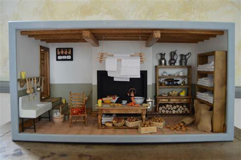 la cuisine ancienne 1 12 maison de poup 233 e miniature maquette mod 232 le r 233 duit chat