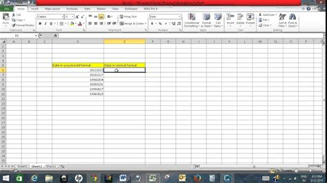 Format Exle by Convert Date From Yyyymmdd Format To Normal Date Format In