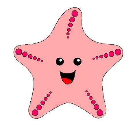 dibujo de estrella de mar pintado por salma en dibujosnet