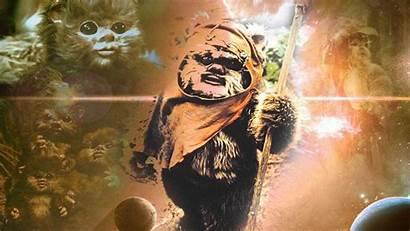 Ewoks Ewok Endor Wars Star Battle Wallpapers