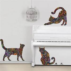 cat wall stickers whyrllcom With cat wall decals