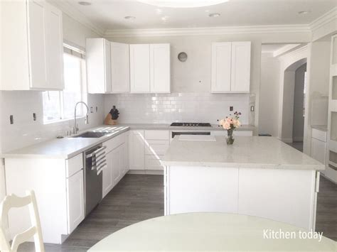 white shaker cabinets with quartz countertops diy home design remodel the real story part 1 mommy