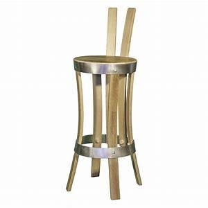 Chaise De Bar Bois : chaise de bar en ch ne recycl brut de fut ~ Teatrodelosmanantiales.com Idées de Décoration