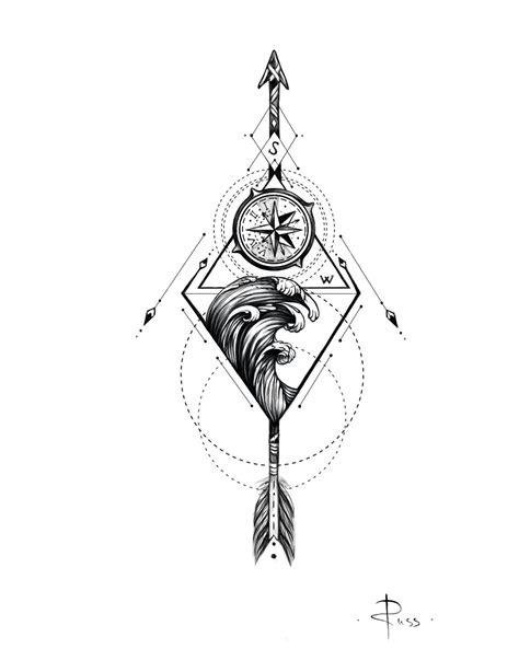 sketch fo tattoo by RUSS --- linework | Sketch tattoo design, Tattoo design drawings, Compass