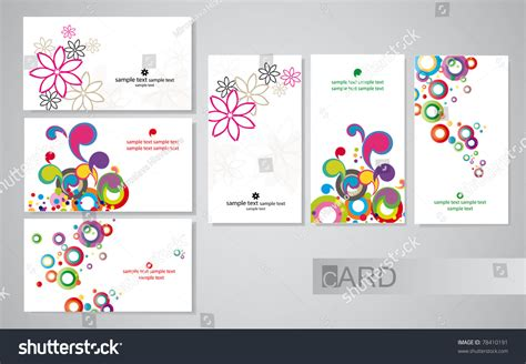 colored business cards  white background stock vector