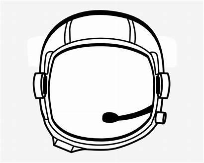 Helmet Astronaut Clipart Transparent Clip Space Clker