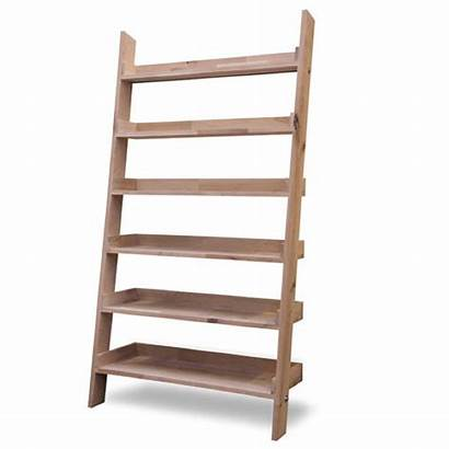 Ladder Shelf Oak Raw Shelving Wide Garden