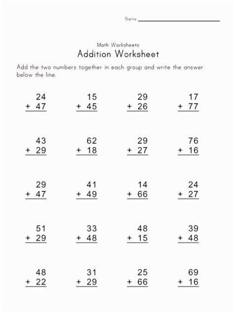 printable touch math addition