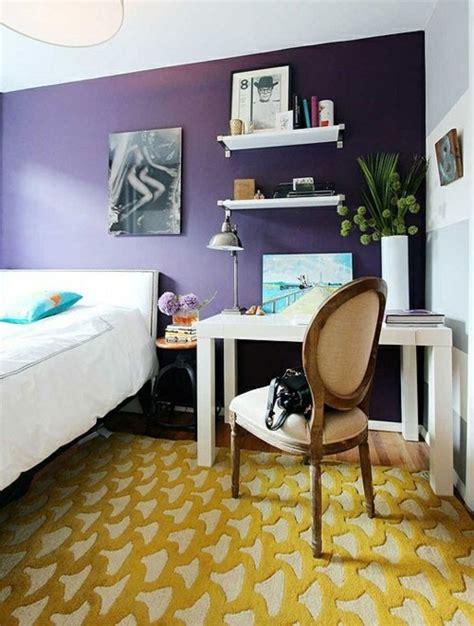 chambre mur violet la chambre à coucher violet sans tristesse