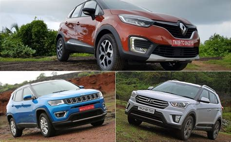 renault jeep renault captur vs jeep compass vs hyundai creta spec