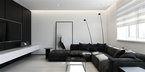 Home Interior Black Art : 30 Black & White Living Rooms That Work Their Monochrome Magic
