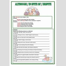 Although, Despite & In Spite Of Worksheet  Free Esl Printable Worksheets Made By Teachers