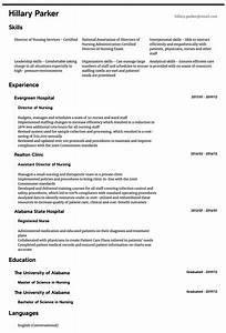 Resume Certified Nursing Assistant Director Of Nursing Resume Samples All Experience Levels
