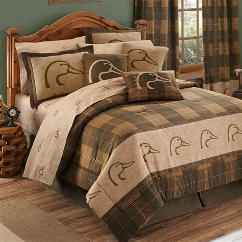 ducks unlimited plaid comforter sheets bed in bag set
