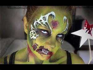 Zombie Fairy Makeup/Facepainting - YouTube