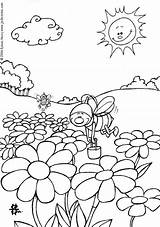 Coloring Pages Funny Cute Animals Animal Amazing Hellokids Pinu Zdroj Insect Farm Bees sketch template