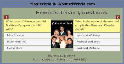 friends trivia questions