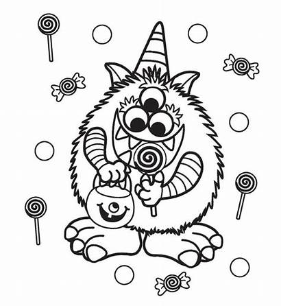 Coloring Halloween Pages Adults Monster Scary Printable