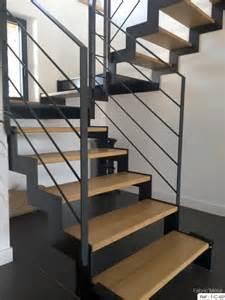 Escalier Moderne by Fabrication Escalier Metal Bois Escalier Moderne En