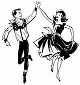 Dance Clip Square Dancing Line Clipart Hoedown Cliparts Ballet Handbell Coloring Library Drawings sketch template