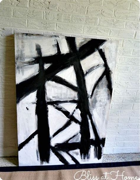 Abstract Easy Black And White by Diy Black And White Abstract You Can Make With Your