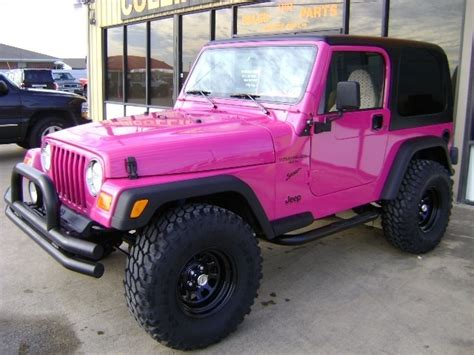 wrangler jeep pink pink jeep wrangler so girly so cute dream car
