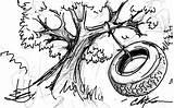 Swing Tree Drawing Getdrawings sketch template