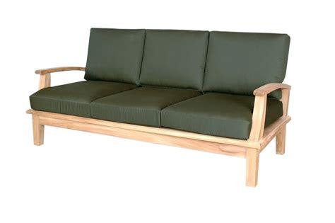 brianna deep seating teak sofa  sunbrella cushions