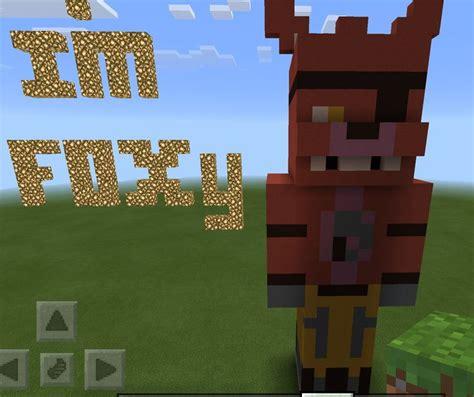 foxy statue  minecraft minecraft  fnaf minecraft