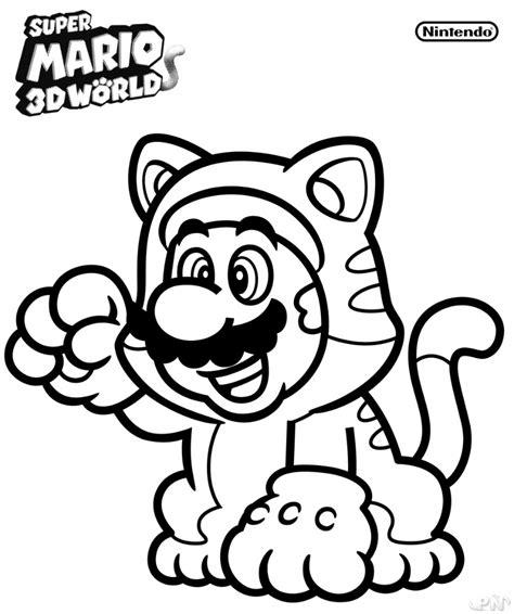Mario 3d World Kleurplaten by Coloriage Mario 3d World En Ligne