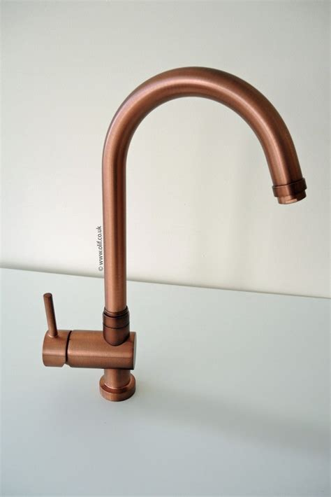 brushed bronze kitchen faucet brushed copper kitchen mixer tap idrotech copper olif
