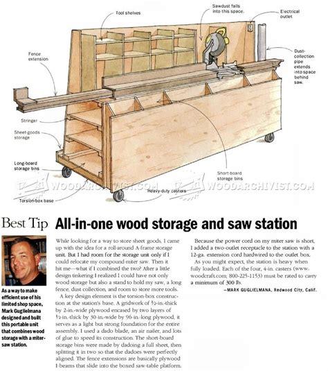 wood storage  miter  stand chest woodworking plans