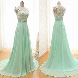 Scoop Neck Bridesmaid Dresses with Lace Appliques, Elegant ...