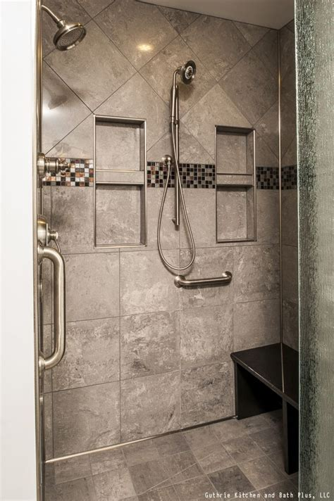 Two Shower Bathroom by This Contemporary Style Shower Has Two Shower Heads And A