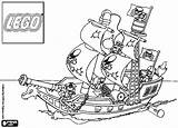 Lego Pirate Coloring Ship Printable Getcolorings sketch template