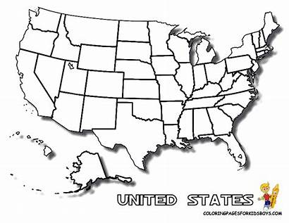 Coloring Map States United Usa Printable State
