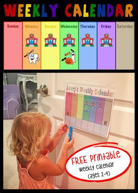 toddler weekly calendar  images toddler calendar
