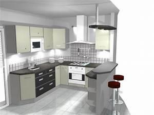idee modele cuisine americaine With modele de cuisine moderne americaine