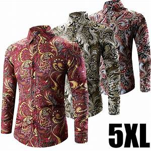 2017 Spring Fashion Retro Floral Print Male Boho Clothing ...