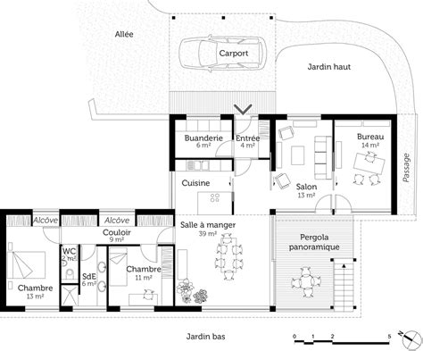 plan maison demi niveau 4 chambres plan maison sur pilotis ooreka