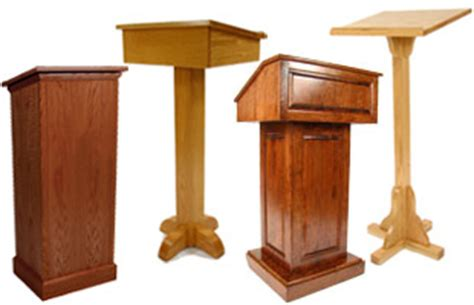 wood lecterns   designs  churches classrooms stages