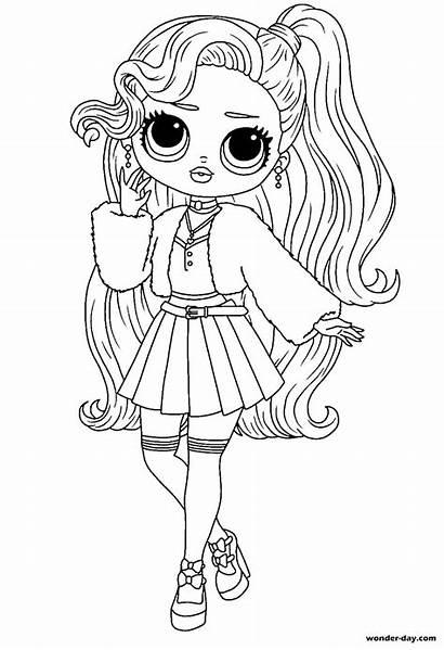Omg Lol Coloring Dolls Colorare Wonder Disegni
