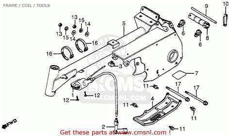 honda atc70 1983 d usa frame coil tools schematic partsfiche